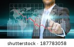 businessman using a digital... | Shutterstock . vector #187783058