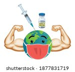 earth globe character with...   Shutterstock .eps vector #1877831719
