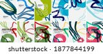 social media doodle shapes... | Shutterstock .eps vector #1877844199