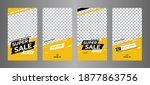 stories template set for banner ... | Shutterstock .eps vector #1877863756