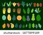 set of plants  flat vector   Shutterstock . vector #1877899189