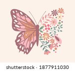 Butterfly Composed Of Cute...