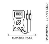 ammeter linear icon. voltmeter  ... | Shutterstock .eps vector #1877914330