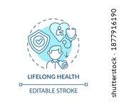 lifelong health turquoise... | Shutterstock .eps vector #1877916190