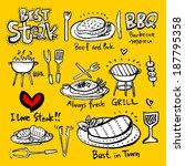 restaurant poster | Shutterstock .eps vector #187795358