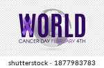 world cancer day poster... | Shutterstock .eps vector #1877983783