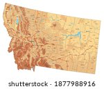 highly detailed montana... | Shutterstock .eps vector #1877988916