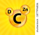 vitamin c  d  zn complex... | Shutterstock . vector #1877996836