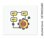 solution research color icon.... | Shutterstock .eps vector #1878002680