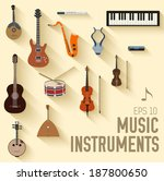 Flat Music Instruments...