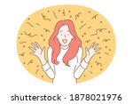 woman feeling happiness concept.... | Shutterstock .eps vector #1878021976