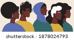 african people isolated. flat... | Shutterstock .eps vector #1878024793