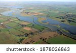 Aerial View Of The Swollen And...