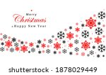 christmas and new years red...   Shutterstock .eps vector #1878029449