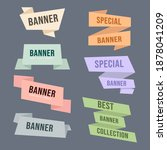 set of origami banners  vector... | Shutterstock .eps vector #1878041209