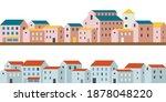 seamless vector border with... | Shutterstock .eps vector #1878048220