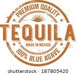 vintage tequila cocktail label... | Shutterstock .eps vector #187805420