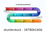 12 steps timeline arrow slide... | Shutterstock .eps vector #1878061606