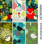 set of vertical cards with... | Shutterstock .eps vector #187809884