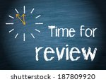 time for review | Shutterstock . vector #187809920
