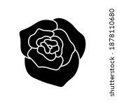 rose flower icon vector on...   Shutterstock .eps vector #1878110680