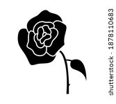 rose flower icon vector on...   Shutterstock .eps vector #1878110683
