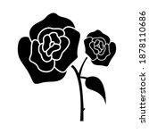 rose flower icon vector on...   Shutterstock .eps vector #1878110686