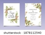beautiful hand drawing floral... | Shutterstock .eps vector #1878112540