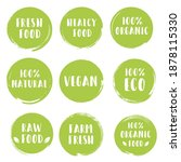 organic  eco  bio  vegan  fresh ...   Shutterstock .eps vector #1878115330