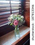 Flowers Bouquet On Windowsill