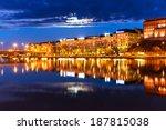 scenic night panorama of sea... | Shutterstock . vector #187815038