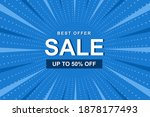 sale banner with blue comic... | Shutterstock .eps vector #1878177493