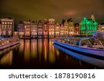 Amsterdam canals in the evening ...