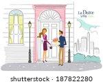 illustration of couple  the... | Shutterstock . vector #187822280