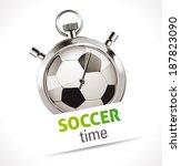 stopwatch   sport soccer | Shutterstock .eps vector #187823090