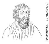 hippocrates  ancient greek... | Shutterstock .eps vector #1878248473