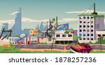 apocalyptic world. the...   Shutterstock .eps vector #1878257236