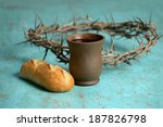 Bread  Cup Of Wine And Crown O...