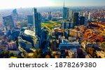 Aerial View Of Milan City...