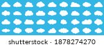 set of clouds.abstract white...   Shutterstock .eps vector #1878274270