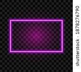 neon rectangle frame  isolated... | Shutterstock .eps vector #1878276790