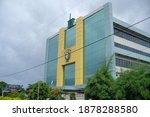 Small photo of Yogyakarta, Indonesia, Dec 13, 2020. The facade of Hermina Hospital is one of the leading private hospitals with branches in many cities.