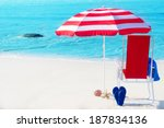Beach Umbrella And Chair By Th...