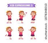 cute little kid girl in various ...   Shutterstock .eps vector #1878348010