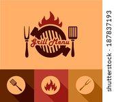 illustration grill menu of in...   Shutterstock .eps vector #187837193