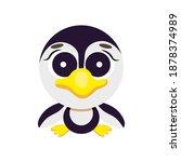 cute cheerful character penguin ... | Shutterstock .eps vector #1878374989