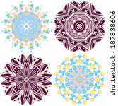 circle lace ornament  round... | Shutterstock . vector #187838606