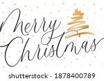 merry christmas tree background ...   Shutterstock .eps vector #1878400789