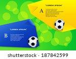 soccer ball poster soccer ball... | Shutterstock .eps vector #187842599