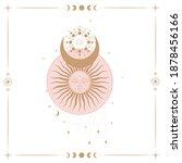 vector illustration set of moon ... | Shutterstock .eps vector #1878456166